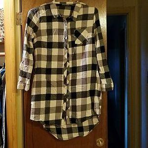 Dresses & Skirts - Plaid Shirt Dress